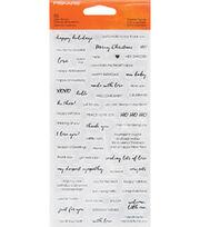 Fiskars Clear Stamps-Essential Sayings, , hi-res