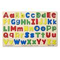 Melissa & Doug Upper & Lower Case Alphabet Letters Wooden Puzzle Set