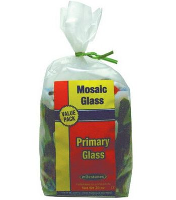 Mosaic Glass Bag-Primary Colors