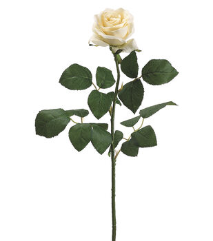 """Bloom Room 27.5"""" Confetti Rose Stem-Vanilla"""