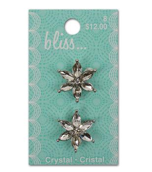 Bliss Crystal Petals Button