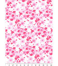 Nursery Flannel Fabric-Pink Floral
