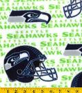 Seattle Seahawks Fleece Fabric -White