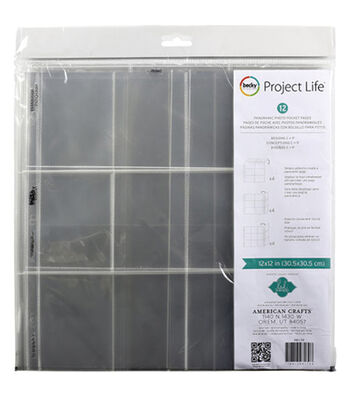 Project Life Heidi Swapp Photo Landscape Panoramic Pocket Pages