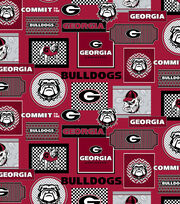 College Teams Georgia Bulldogs Cotton Fabric 44''-Packed Patches, , hi-res