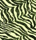 Novelty Netting Tulle Fabric 55\u0022-Foiled Lime Zebra