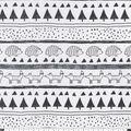 Snuggle Flannel Fabric-Black & White Woodland Stripe