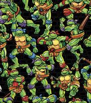 Teenage Mutant Ninja Turtles Cotton Fabric -Turtles Toss, , hi-res