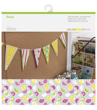 Cricut 10 Pack 12''x12'' Deluxe Papers-Summertime