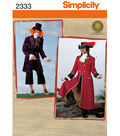 Simplicity Pattern 2333-Men\u0027s Mad Hatter and Captain Costumes