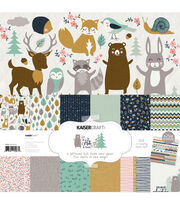 Kaisercraft Hide & Seek 12 pk 12''x12'' Paper Pack with Sticker Sheet, , hi-res