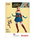 Simplicity Pattern 8185 Misses\u0027 Super Girl Costume-Size R5 (14-22)
