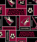 Arizona Coyotes Fleece Fabric 60\u0027\u0027-Block