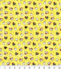 Novelty Cotton Fabric-Patterned Chickens Yellow