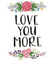 Cricut Large Iron-On Design-Love You More, , hi-res