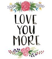 Cricut Large Iron-On Design-Love You More, , hi-res