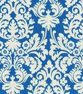 Waverly Lightweight Decor Fabric-Close Up/Navy