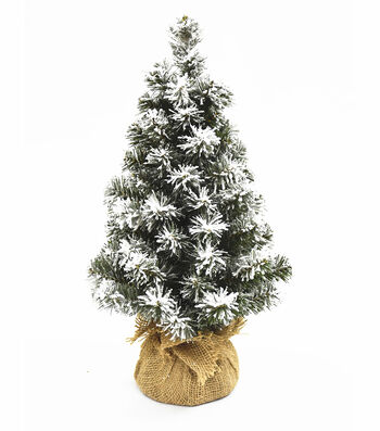 Blooming Holiday Christmas 18'' PVC Norway Flocked Spruce Tree-Green