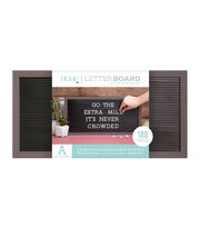 DCWV Home 20''x10'' Black Letter Board with 1'' White Letters, , hi-res