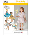 Simplicity Patterns US8103A Children-3-4-5-6-7-8