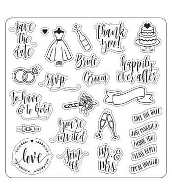 Lia Griffith Clear Stamps-Wedding Day