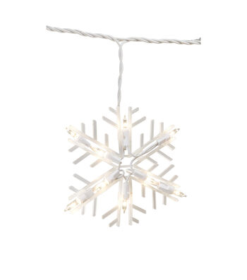 Maker's Holiday Christmas 10 ct Shimmering Snowflake Light Set