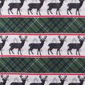 Anti-Pill Plush Fleece Fabric-Larson Navy Green Pattern Trap In Line