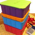 Sew Stack Single Bobbin & Lid Kit-Orange & Green