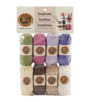 Lion Brand Bonbons Yarn 8/Pkg-Nature