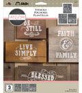 FolkArt Lily & Val 3 pk 8.5\u0027\u0027x9.5\u0027\u0027 Stencils-Market Fresh