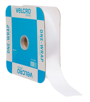 VELCRO Brand ONE-WRAP Roll 2in Tape, White, Flange
