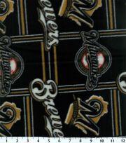 Milwaukee Brewers Fleece Fabric -Logo, , hi-res