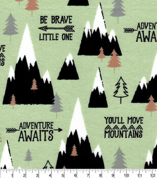 Nursery Flannel Fabric-Boone Mountains
