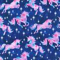 Novelty Glitter Cotton Fabric-Tie Dye Unicorns
