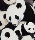 Novelty Cotton Fabric -Packed Pandas