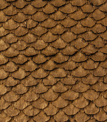 "Cosplay By Yaya Han Metallic Faux Fur Scales Fabric 57""-Copper"