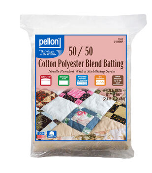 Pellon 50/50 Cotton Poly Blend Batting-Full
