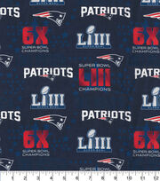 New England Patriots Cotton Fabric-Championship Digital, , hi-res