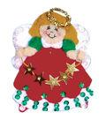 Design Works 3\u0027\u0027x4\u0027\u0027 Angel Ornament Felt Craft Kit-Red