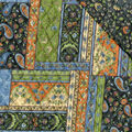 Double Faced Quilt Fabric -Black/Brown Mosaic Mist