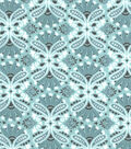 Snuggle Flannel Fabric -Teal Damask