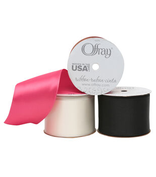 "Offray Wired Chantel Ribbon 2.25"" x 9 Feet"