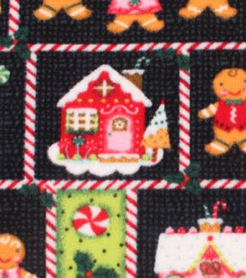"Anti-Pill Fleece Fabric 59""-Patch Gingerbread"