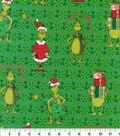 The Grinch Cotton Fabric-Ho Ho Ho