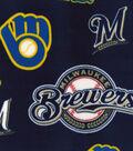 Milwaukee Brewers  Fleece Fabric-Cooperstown