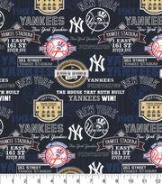 New York Yankees Cotton Fabric-Stadium, , hi-res