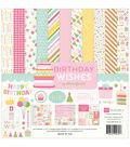 Echo Park Paper Company Birthday Wishes Girl Collection Kit 12\u0027\u0027x12\u0027\u0027