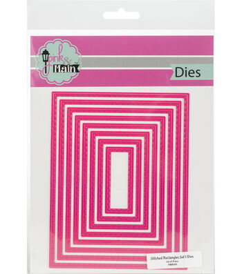 "Pink & Main Dies-Stitched Rectangles .5"" To 5.25"""