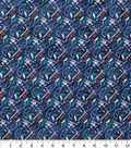 Novelty Cotton Fabric-Bow & Arrow Navy