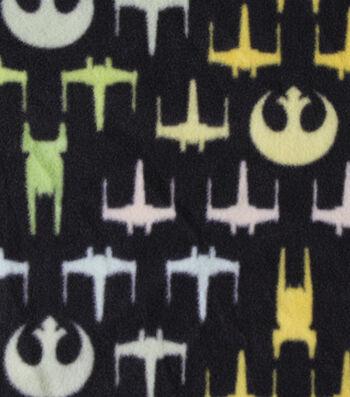 "Star Wars™ Rogue One Fleece Fabric 58""-Chevron Ships"